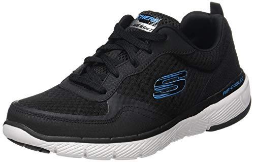 Skechers Herren Flex Advantage 3.0 Sneaker, Schwarz (Black Blk), 48.5 EU (Sport Schuhe Männer Skecher)