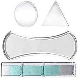 LAGUI Coque Convient pour Sticky Fixate Gel Pads, Support Universel pour téléphone Portable Sticky Mat Nano Technology Bande pliée, Transparent 4 Pack.