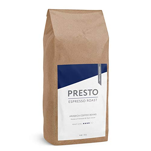 KaffeeBohnen - Espresso Bohnen - 100% Arabica Kaffee ganze bohnen - kaffeebohnen espresso - 1kg Starke Kaffeebohnen - (1KG KaffeeBohnen) -
