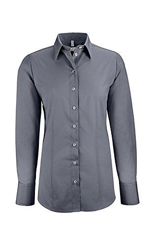 Greiff Damen-Bluse BASIC, Regular Fit, Stretch, easy-care, 6515, anthrazit, Größe 36