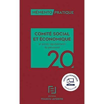 MEMENTO COMITE SOCIAL ET ECONOMIQUE 2020