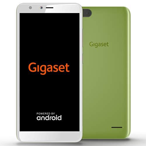 Gigaset GS100 Einsteiger-Smartphone ohne Vertrag (13,97 cm (5,5 Zoll HD+) 18:9 Display, 8GB Speicher, Android Oreo 8.1 Go) lemon green