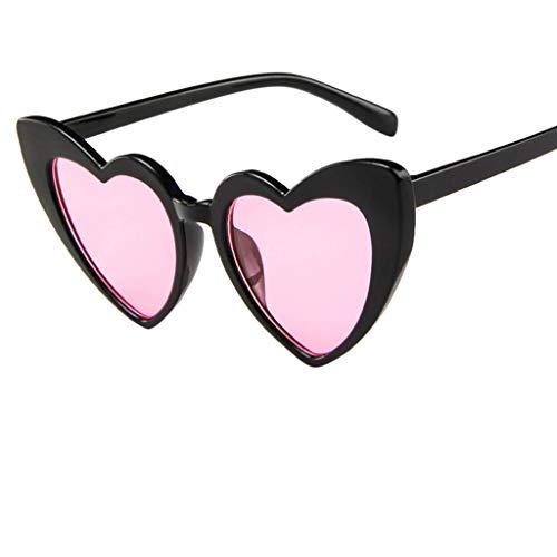 Gafas de Sol al Aire Libre Unisex,Sunglasses UV400-Novedades Gafas de sol polarizadas para las mujeres, gafas de moda con lentes espejadas (Rosa)