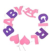 Da.Wa Baby Girl Bunting Banner Flags Decoration for Birthday Party