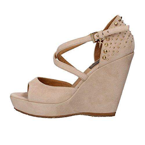 cesare-paciotti-40-eu-sandales-talon-compenses-femme-beige-daim-clous-ah648