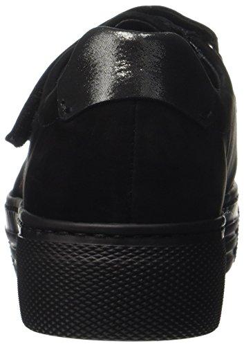 Gabor Comfort Basic, Scarpe Stringate Derby Donna Nero (Schwarz/argento)