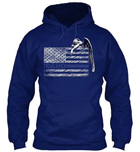 Police Idaho (Bequemer Hoodie Damen / Herren / Unisex S Idaho Police State Police Guardian Marineblau)