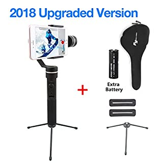 Feiyutech SPG (Upgraded Splash waterproof version with extra battery and trip) 3 Axis Handheld Stabilizer for Gopro hero 5/4/3 and iPhone X/8/7/6 Huawei Samsung Galaxy Moto LG Smartphones