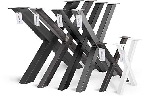 HOLZBRINK 1x Pata Mesa Forma X Perfiles Acero 60x60