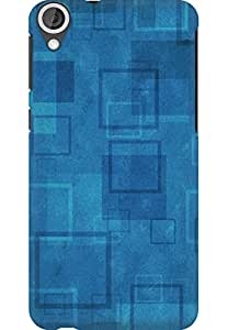 AMEZ designer printed 3d premium high quality back case cover for HTC Desire 820 (simple squares)
