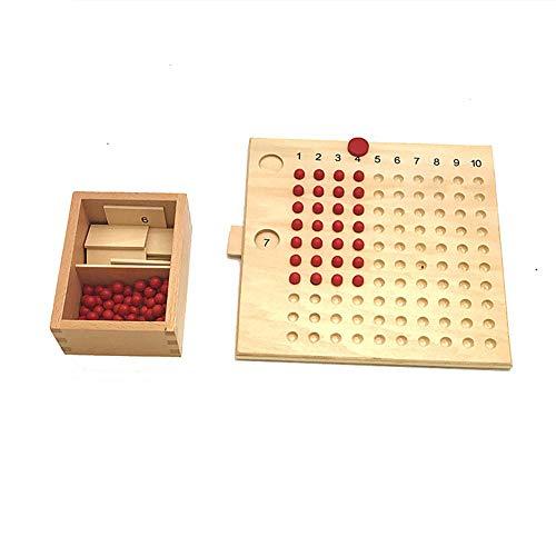 Kids Wooden Montessori Multiplication Division Mathematics Board Education Toy