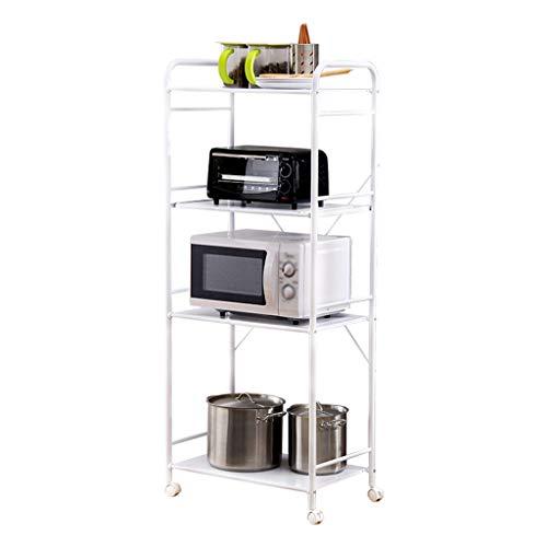 Küchenwagen QIQIDEDIAN Vierschichtiger Beweglicher Zahnstangen-Küchen-Metallboden-Rückstand-Zahnstangen-Fertigstellungszahnstange