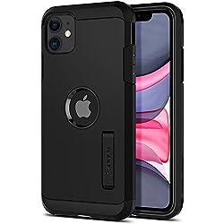 Spigen Coque iPhone 11 [Tough Armor] Protection Ultime [US Military Grade] et [Air Cushion] Coque Compatible avec iPhone 11 (2019) - Noir