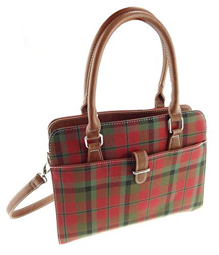 Damen Tartan-Handtasche mit Schultergurt erhältlich in 4Tartankaros TB7009 MacNaughton