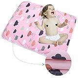 3 Stück Säugling Wasserdicht Urin Matte Abdeckung - Atmungsaktiv Pad Protector wechseln fürs Kleinkind Jungen Mädchen (Wolken blühen, S - 35 x 45 cm (3 Stück))