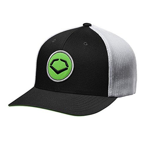 EvoShield Circle Flex Fit Mütze, Herren, Circle Flex Fit Hat, schwarz/weiß, Large-X-Large