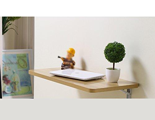 YHDD Klapptisch Esstisch Wandtisch Computertisch Hinweis Wandtisch Schreibtisch, 60x40 cm, Nussbaumfarben (größe : 80 * 40cm)