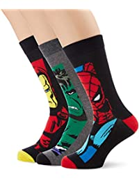 New Look Marvel Boxed, Calcetines para Hombre, Multicolor (Mulit/Coloured 99)
