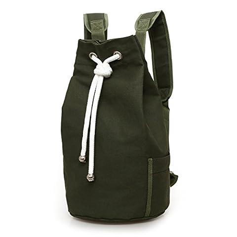 Canvas Bag Bucket Bag Sports Large Capacity Men Bag Bucket Basketball Bag,ArmyGreen