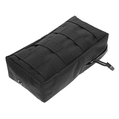 Broadroot Outdoor nylon Medical bag impermeabile marsupio custodia Sling Connected to Vest Belt Fit per escursionismo campeggio di, Green Black