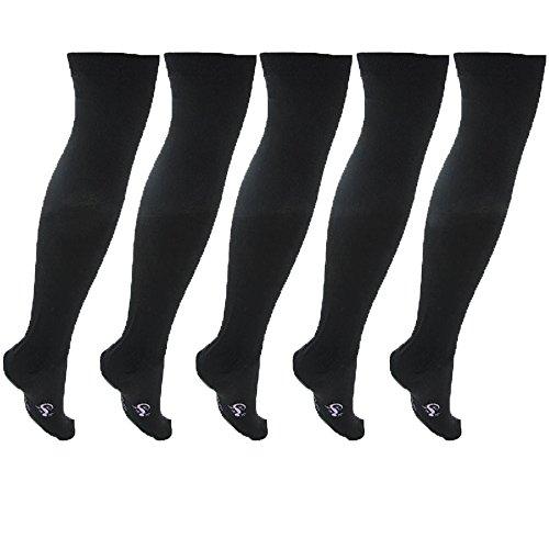 Little Grippers Mädchen Socken Gr. Schuhgröße 12,5-3,5 Ca, 7-10 Jahre, schwarz (Socken Gripper)