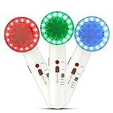 7 en 1 Massager Facial Ultrasonique, Masseur Visage EMS Appareil de Thérapie par Photons à LED 3 Couleurs pour Modeler le Visage et Amincir le Corps