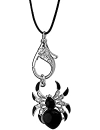 Kette / Halskette AE finesse, 925 Silber - Sterling Silber, Spinne / Zirkonia weiss