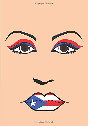 Boricua Notebook: Puerto Rico Flag Fashion Silhouette -