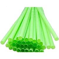 250 Pailles biodégradables compostables en P.L.A.long 23 cm, diam 6 mm