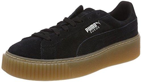 Puma Unisex-Kinder Suede Platform Jewel Jr Sneaker, Schwarz Black, 37 EU (Freizeitschuhe Junior-mädchen)