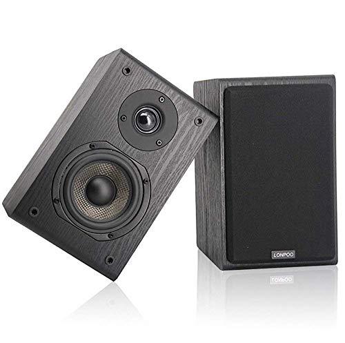 LONPOO LP42 HiFi Altavoces de estantería pasivos, Bookshelf Speaker, Altavoz de madera...