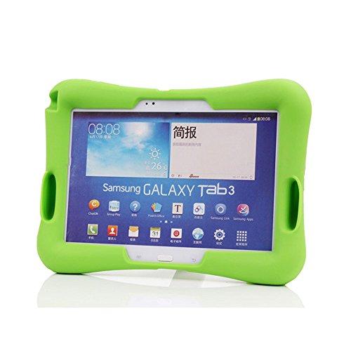 Japace® EVA Case Cover Etui für Kinder 10.1 Zoll Tablet Ständer Stoßfeste Schutz Hülle Tasche mit Eingabestift (Stylus Pen) für Samsung Galaxy Tab 3 10.1 GT-P5200 / GT-P5210 / GT-P5220 - Grün