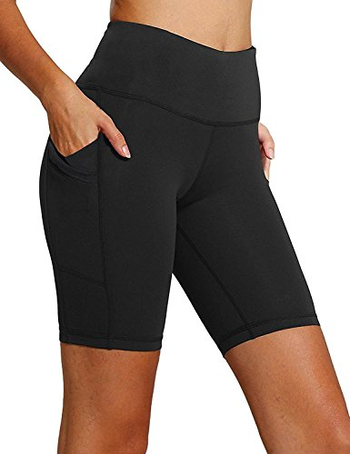 FIRM ABS Power Flex Yoga Shorts for Women Tummy Control Workout Running Shorts Pants Yoga Shorts With Three Pocket