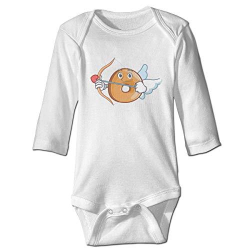 s Baby Jungen Mädchen Babybody Langarm, Baby Boys Girls Bodysuit Cupid Bagels Character Cartoon Style Jumpsuit Onesies Long Sleeve Unisex ()