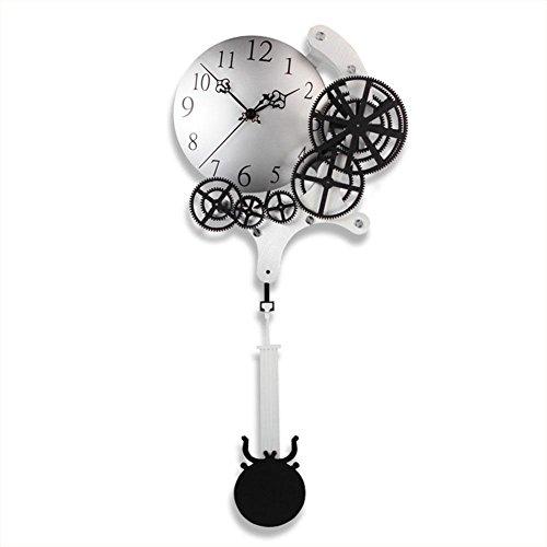 Horloge - Cinq anneaux vitesse dynamique décorations à la maison pendule à quartz Horloge , Blanc