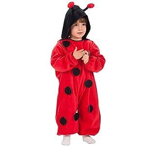 Carnival Toys 63037-Mariquita, Disfraz para bebé con Capucha, 1-2años