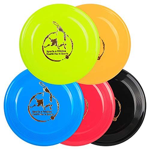 OPORA Hundefrisbee (5 Stück, Zufällige Farbe) Interaktives Spielzeug, Geeignet Für Mittlere Und Große Hunde, Langlebiges Training Dog Frisbee Flying Discs,RandomColor,23cm -
