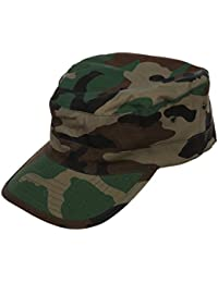 SODIAL(R) Military Army Urban Sun Visor Cap Mens Lady Hat Camo Camouflage Jungle Baseball - Woodland Camo