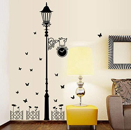 traßenlaterne Wandaufkleber Wandbild Wohnkultur Wohnzimmer Kunst Decals Zaun Alte Lampe Straßenlaterne Tapete ()