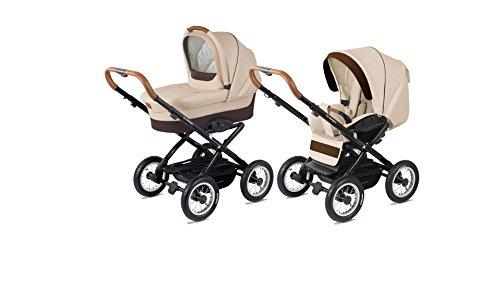 Corvet retro Kombi Kinderwagen klassisch 2in1 Baby Wanne und Sportwagen Eco-Leder