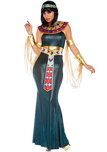 Leg Avenue 8675705101 4 teilig Set Nil Göttin, Damen Karneval Kostüm Fasching, Mehrfarbig, Größe S/M (EUR 36-38) (Göttin Des Nils Für Erwachsene Kostüm)