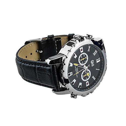 Full HD Armbanduhr Kamera TE659, 12 Mio Pixel, 16 GB interner Speicher, getarnte Überwachungskamera, Langzeitüberwachung Versteckte Videoüberwachung, Spy Cam, IR Nachtsicht von Kobert-Goods