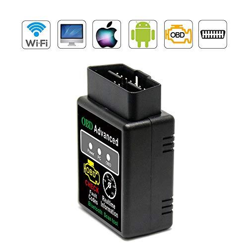 VAWcornic Bluetooth Professioneller OBD2 Diagnosegerät, Auto Diagnosegerät OBD II Kfz Adapter - Kompatibel mit Alle Fahrzeuge, Auto Diagnose OBD2 Stecker Für IOS, Android, Windows