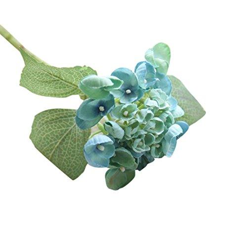 Coloré(TM) Fleurs Artificielles,Fleur Plastique Fausse Fleur Bouquet Mariage pour fête de Jardin à la Maison Décor (Bleu)