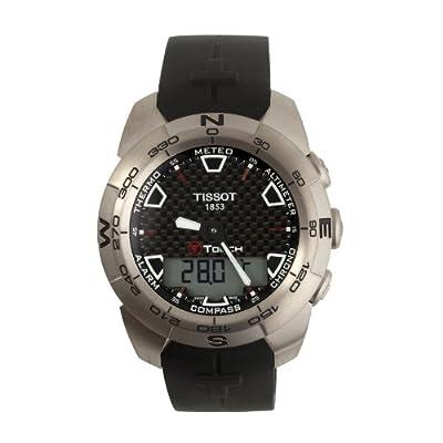 Tissot T-Touch Expert T013.420.47.201.00 T0134204720100 - Reloj de caballero de cuarzo, correa de goma color negro