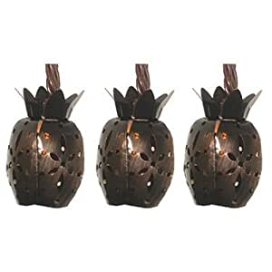 SIENNA LLC Patio 10-Light Set, Pineapple, Battery-Operated
