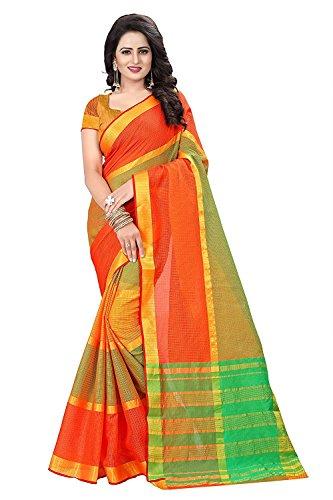 Devani Brothers Women's Cotton Saree with Blouse Piece women latest design (Kota_Saree)...