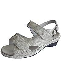 Semler Damen Sandale Komfort-Sandale weiß Leder Weite H Gr 33,5 34 34,5