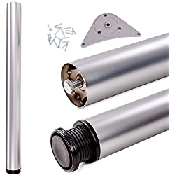 Juego de patas extensibles de mesa | Sossai® Premium TBAL | Óptica de aluminio | Altura regulable 1100 mm + 20 mm | 1 unidad