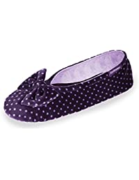 Isotoner Chaussons FEMME Velours - grand noeud Femme